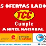 Convocatoria laboral en TCC