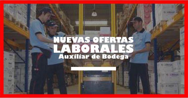 Ofertas de trabajo Auxiliares de bodega