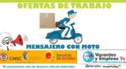 Convocatoria laboral para mensajeros motorizados en Medellín